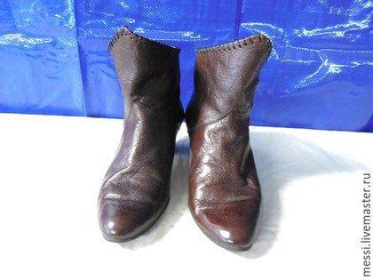 Винтажная обувь. Винтажные кожаные полусапожки Clock House, р.39. Messy. Интернет-магазин Ярмарка Мастеров. Полусапожки