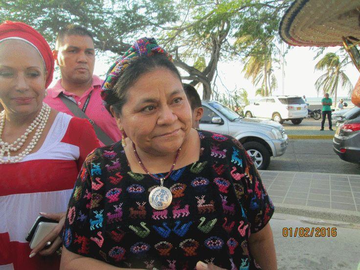 Rigoberta Menchú en La Guajira - Hoy es Noticia - Rosita Estéreo