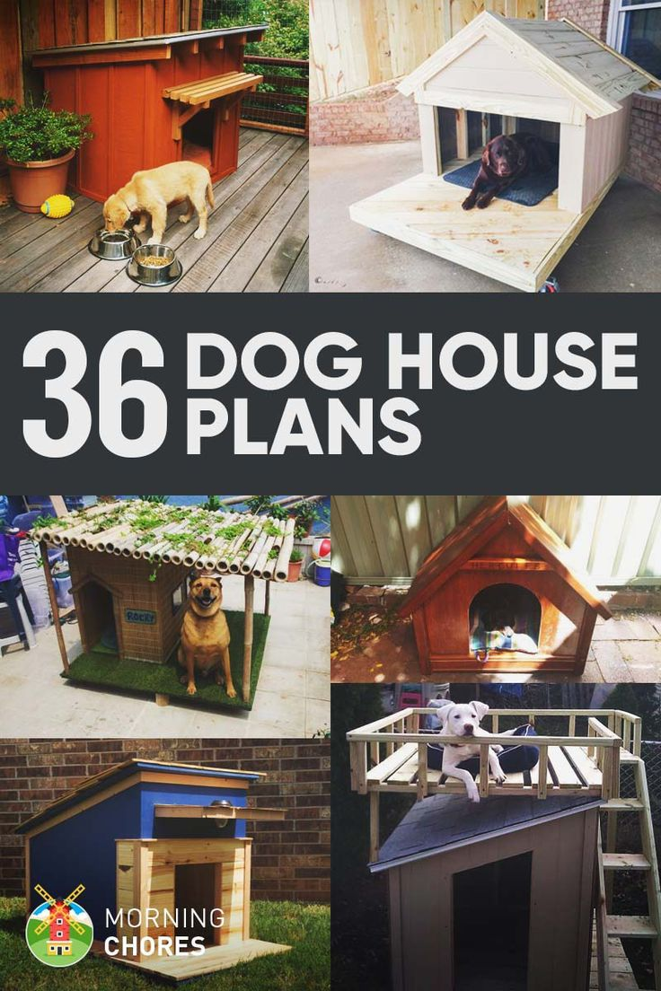 36 Free DIY Dog House Plans & Ideas for Your Furry Friend                                                                                                                                                                                 More