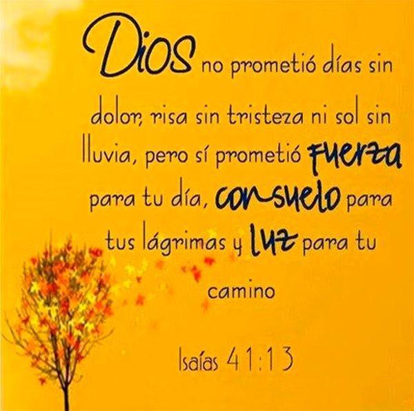 Dios Promete Paz Frases Cristianas De Fortaleza Imagenes