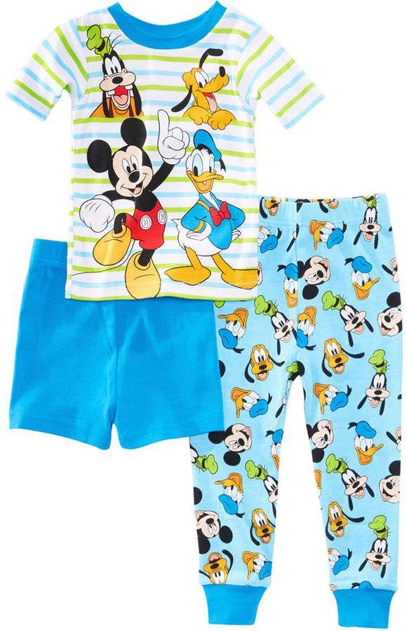e182b8d6e Disney's Mickey Mouse 3-Pc. Best Pals Cotton Pajama Set, Toddler Boys