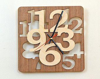 12'' Wooden Wall Clock / Home Decor / Housewares / Clock от KWUDLV