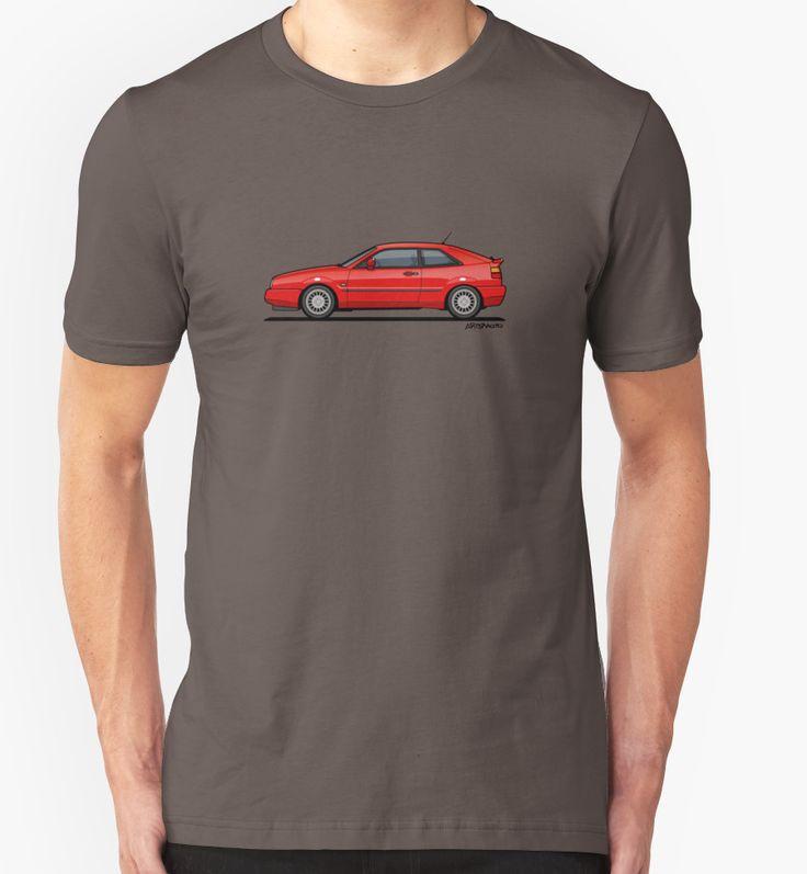 #VW Corrado G60 Red – #Volkswagen #Vdub ©2016 Tom Mayer, Monkey Crisis On Mars, All Rights Reserved   Redbubble