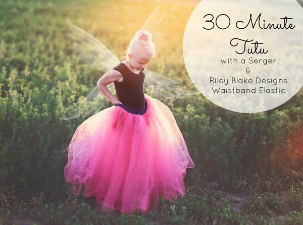 30 Minute Tutu with Riley Blake Designs Waistband Elastic