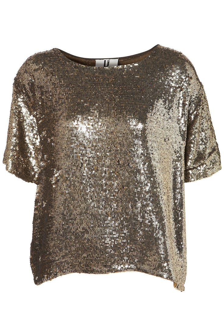 Sequin Tee by Unique at Topshop