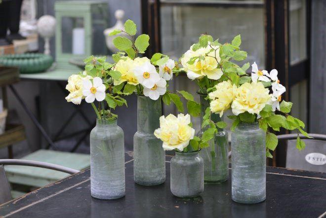 Enkle blomsterdekorationer