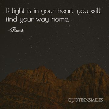 light in your heart Rumi Picture Quote