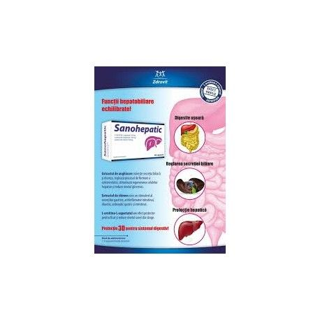 SANOHEPATIC 40 CAPSULE + 30 CAPSULE CADOU SANOHEPATIC este un produs naturist pentru digestie si protectie hepatica.