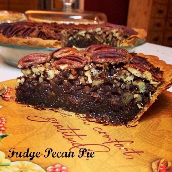 Fudge Pecan Pie on 5DollarDinners.com! (No corn syrup!)