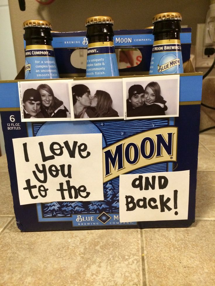 "Boyfriend surprise. Boyfriend gift. ""I love you to the moon and back"""