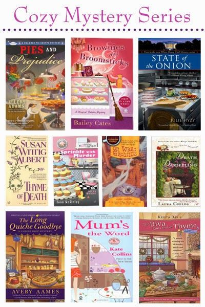 10 of my favorite cozy mystery series.
