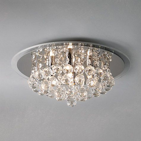 Buy John Lewis Belinda Flush Ceiling Light, Chrome / Crystal Online at johnlewis.com