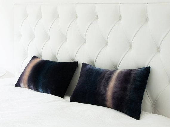 Gray stripe velvet cushion/pillow cover, ombre LIMITED EDITION UK, Ready to ship,.