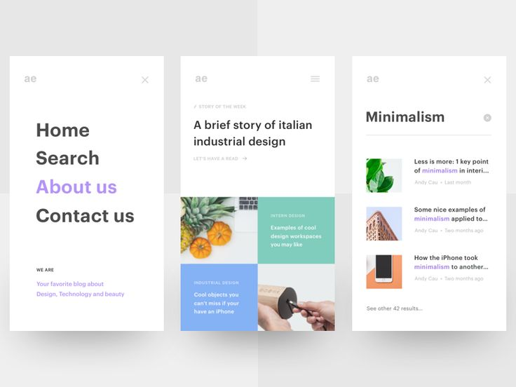 Hello Dribbbleville, so here's a rebound with the missing screens of this little project of mine. Here you can see the home, the view of an article, the menu, the about us page, the contact us pag...