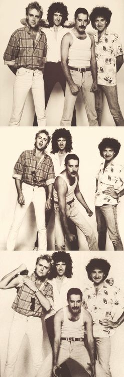 Queen Roger, Brian, Freddie and John