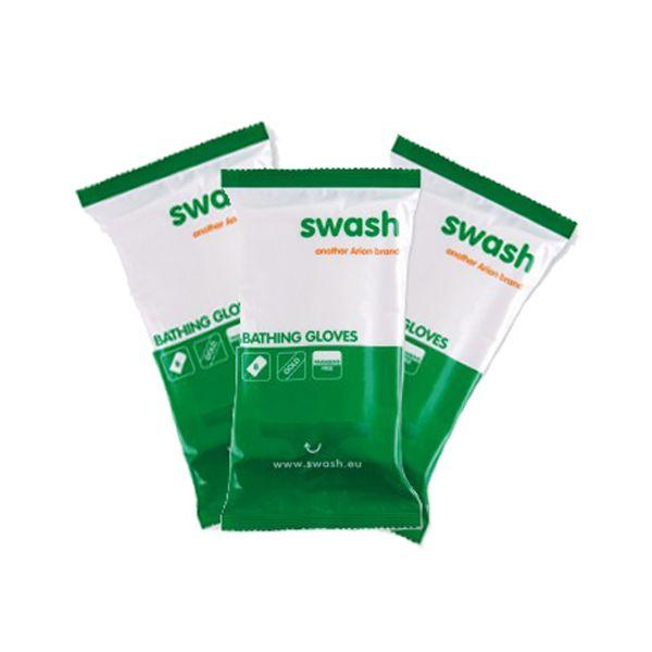 Swash gold gloves grootverpakking 40 stuks  De Swash gold gloves zijn nu ook verkrijgbaar in grootverpakking. Met deze grootverpakking heeft u voldoende voorraad voor een langere periode en bespaart u meteen op zowel verzendkosten als de prijs per product. Bij een afname van 40 stuks bespaart u maar liefst  4000 en heeft u voldoende Swash Gold Gloves voor een langere periode. De Swash gold gloves van Arion zijn washandjes die zijn gemaakt van een reliëfrijk kwalitatief hoogwaardig materiaal…