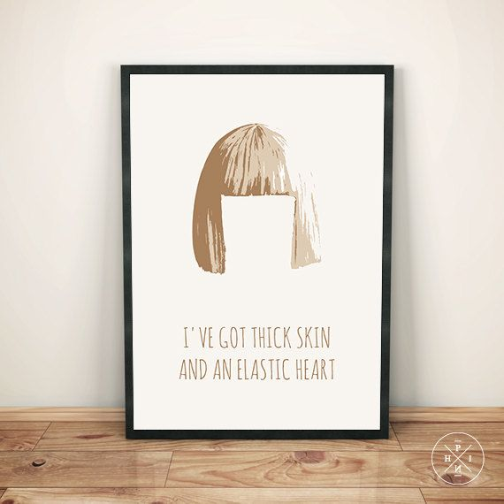 FREE SHIPPING ON ALL US ORDERS OVER $50. USE CODE: FRDMSP50 !!!  SIA Elastic Heart The Weeknd Diplo Maddie Ziegler Shia LaBeouf Minimalist Music