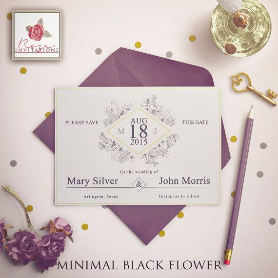 Make sure your big day is in the diary with save the date cards from Rose Invitations. Make the date memorable with cute or funny photos and