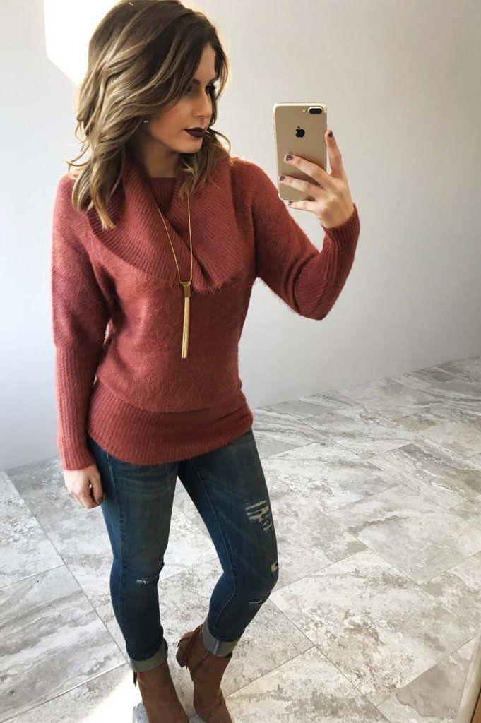 Never Run Away Sweater: Clay