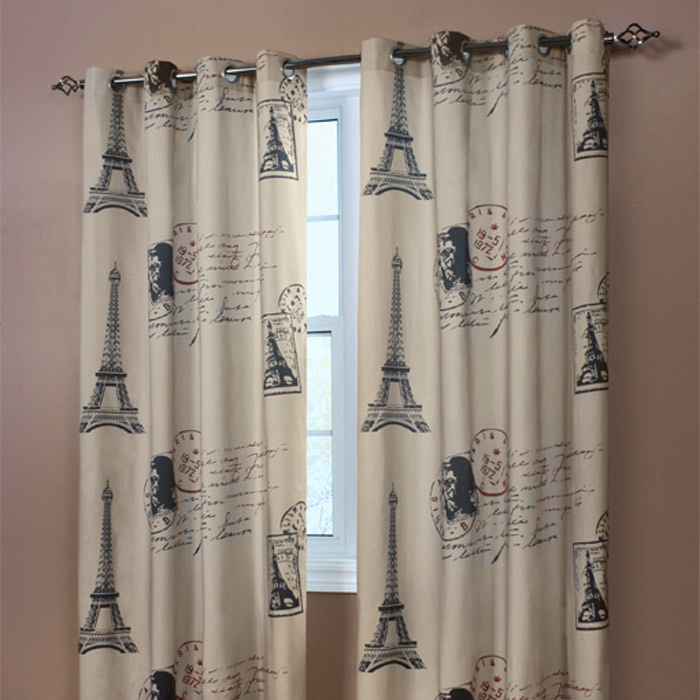 Paris curtain panel as an entire wall hanging joss for Space themed curtains