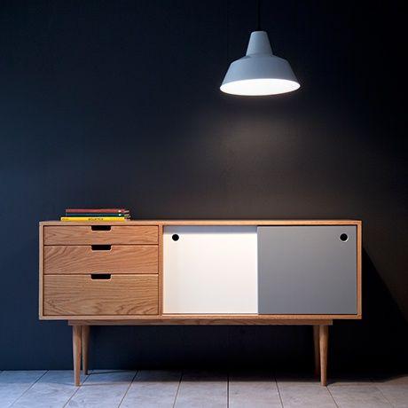 Sideboard - Eiche/Grau/Weiß - alt_image_three