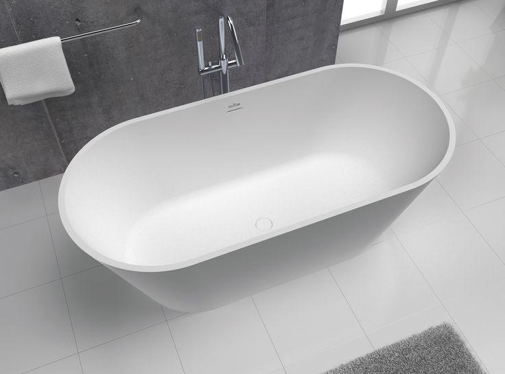 Bañera de estilo moderno con formas redondeadas