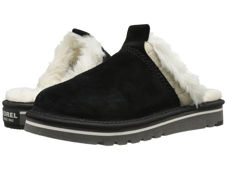 SOREL SOREL - THE NEWBIETM SLIPPER (BLACK) WOMEN'S SHOES. #sorel #shoes #
