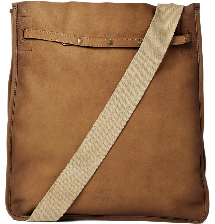 Leather Messenger Bag. Burberry Prorsum. $1495