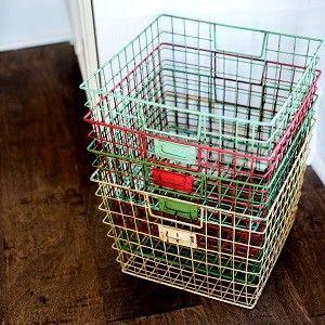 Locker Basket   Wire Locker Basket   Wire Storage Basket
