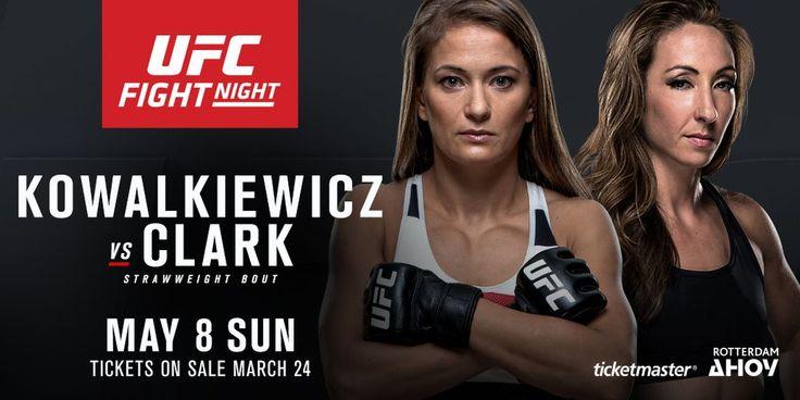 Karolina Kowalkiewicz vs Heather Jo Clark na UFC Fight Night 87 w Rotterdamie