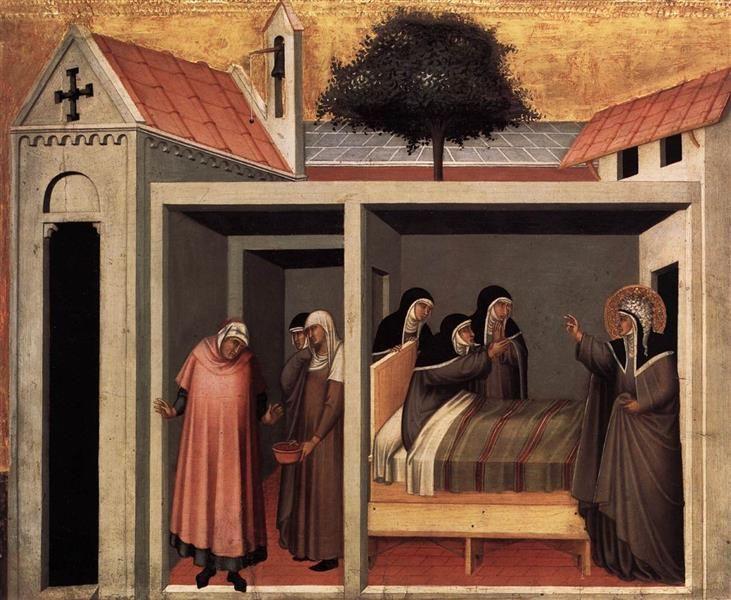 Beata Umiltà Heals a Sick Nun, 1341 - Pietro Lorenzetti