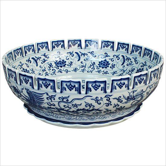 Handmade Porcelain Ming Dynasty Bowl | Porcelain Sinks | Linkasink