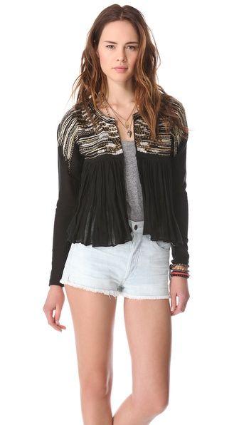 Love Sam Metallic Waterfall Gauze Jacket at @Shopbop
