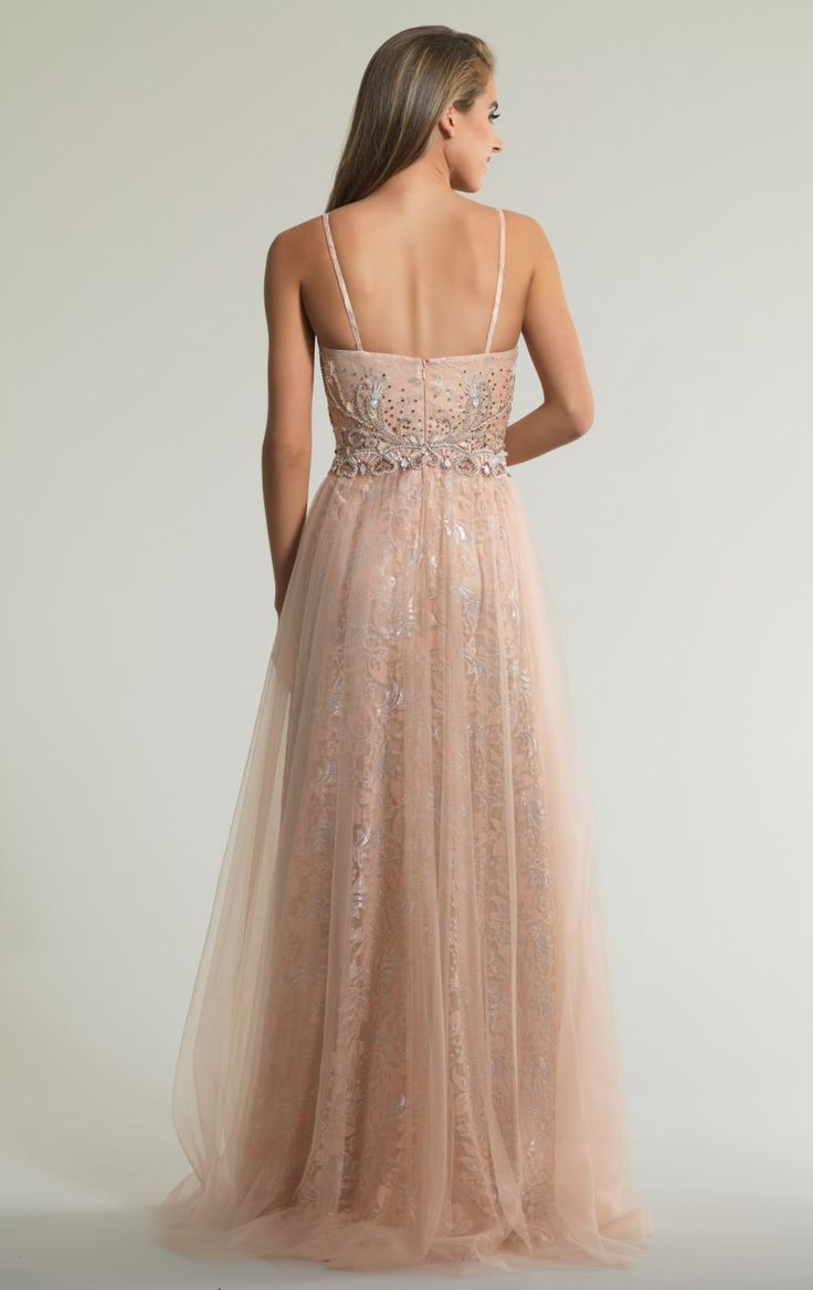 BB7122. New 'one of' exclusive Dave and Johnny ball gowns in store now. Blush soft A-line with beautiful lace under skirt. Capture romance in this beaded sweetheart gown by Dave and Johnny, New York. Ornate beading spread generously all over the bodice. Perfect for a special event or modern wedding.See more on http://bridalandball.co.nz/ball-gowns/