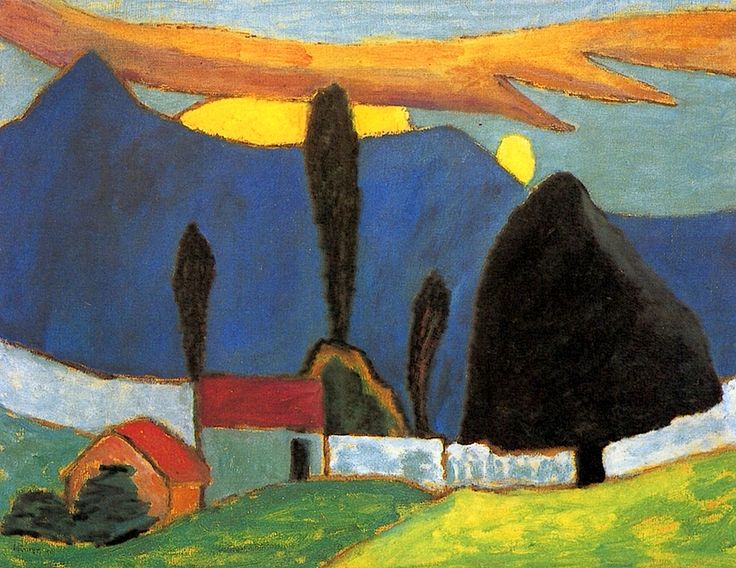 Landscape with White Wall Gabrielle Münter - 1910