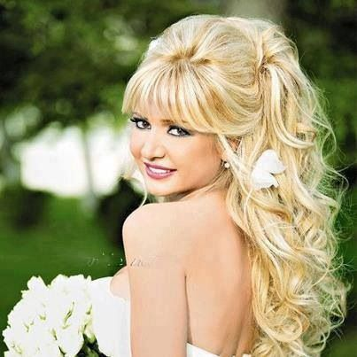 Like a Southern Belle kinda wedding hair style