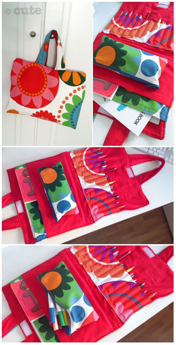 Maleta de tela para pinturas. Crayon and coloring book carrier