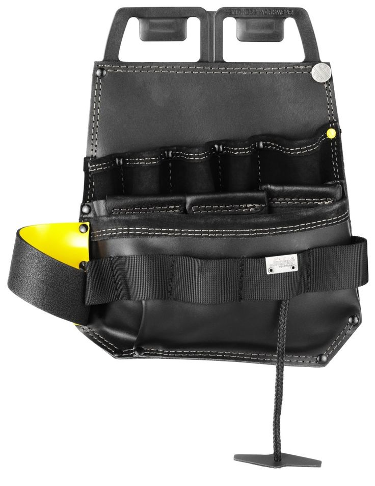 This tool pouch was designed for the professional #electrician. It keeps all your relevant #tools at hand and is made of durable leather. Features unique solutions for your tools, knife, pliers and voltmeter. Designed for the Snickers Workwear Toolbelt. - Snickers Workwear Artnr 9785