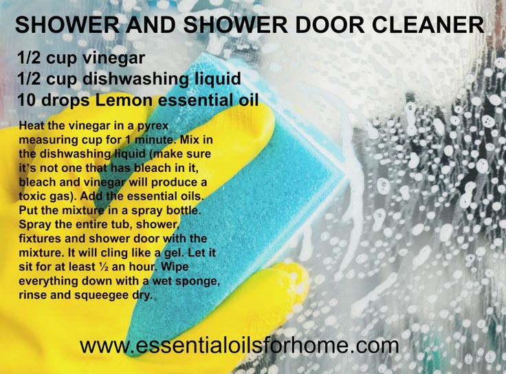 World's best shower and shower door cleaner.