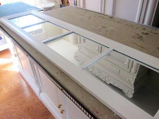 How To Make A Fake Transom Window With A Mirror Molding