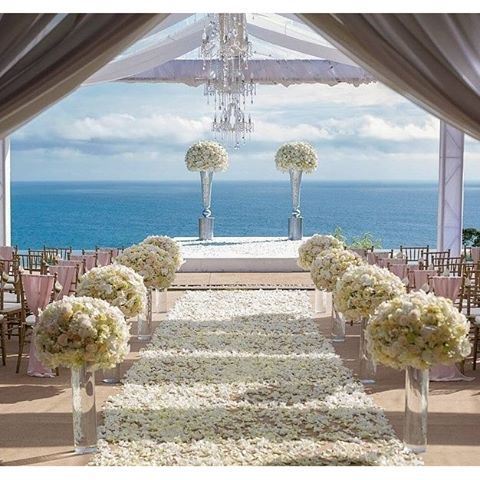 A walkway to heaven and a lifetime promise via @theweddingblissthailand…