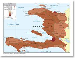 Haiti population density map 2007