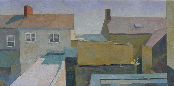 backyards in Wexford, 30x60cm oil