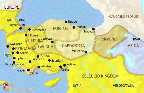 history map of Turkey 200BC
