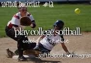 Softball Bucket List