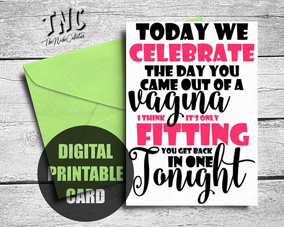 Naughty Birthday Card