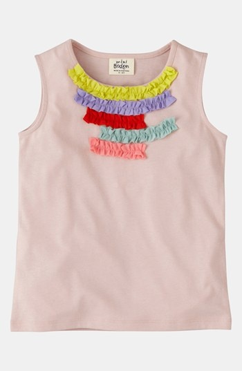 Mini Boden Ruffle Trim Tank Top (Toddler, Little Girls & Big Girls) available at #Nordstrom