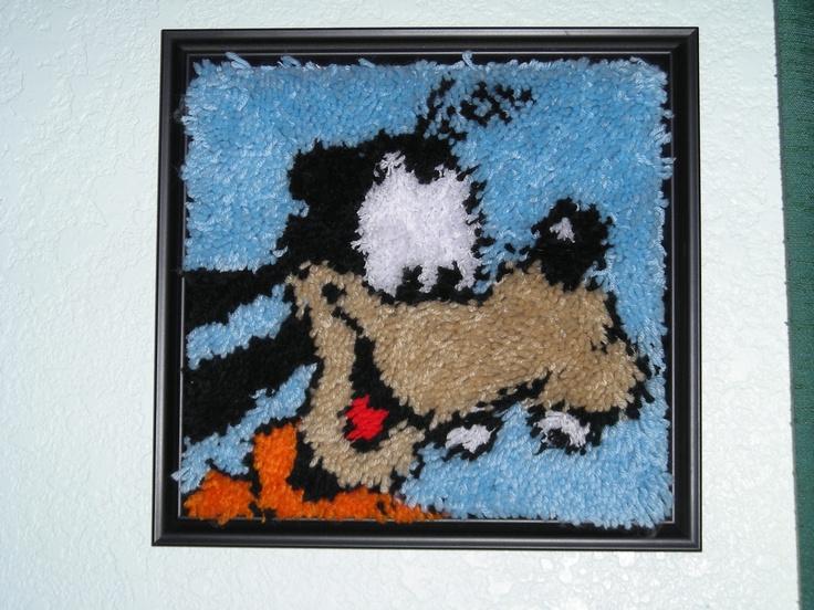 Framed Goofy Latch Hook