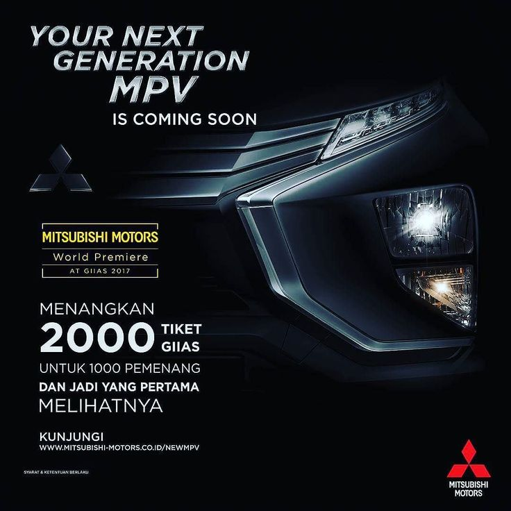 Don't lose your chance to be the first to see #YourNextGenerationMPV at @giias_id @mitsubishimotorsid @mitsubishi.srikandi  #Mitsubishi #mitsubishimpv #YourNextGenerationMPV #iLoveMyMitsubishi #xmconcept #mitsubishijakarta #mitsubishisrikandi