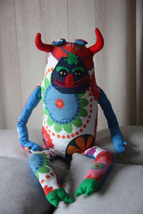 "XXL 39"" FUNNY DEVIL. Funny devil plushie. Weird stuffed animal. Large stuffed animal. Crazy plushie. Funny spirit. Crazy monster."